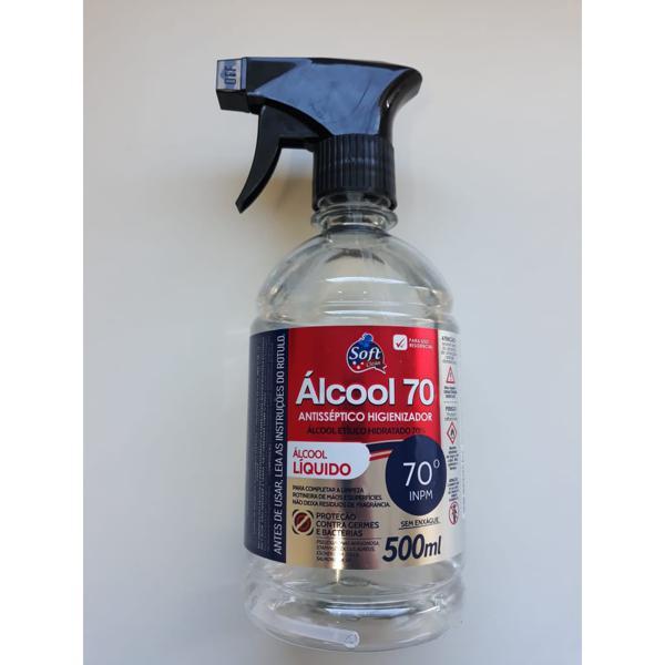 Álcool Soft 500Ml 70°Inpm Liquido com borrifador