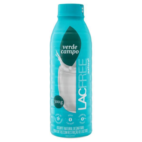 Iogurte Desnatado Natural Zero Lactose Verde Campo Lacfree Garrafa 500g