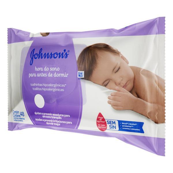 Toalha Umedecida Johnson's Hora do Sono 20cm x 15cm Pacote 48 Unidades