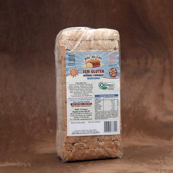 Pão Sem Glúten Congelado Orgânico 500g - Pão do Céu