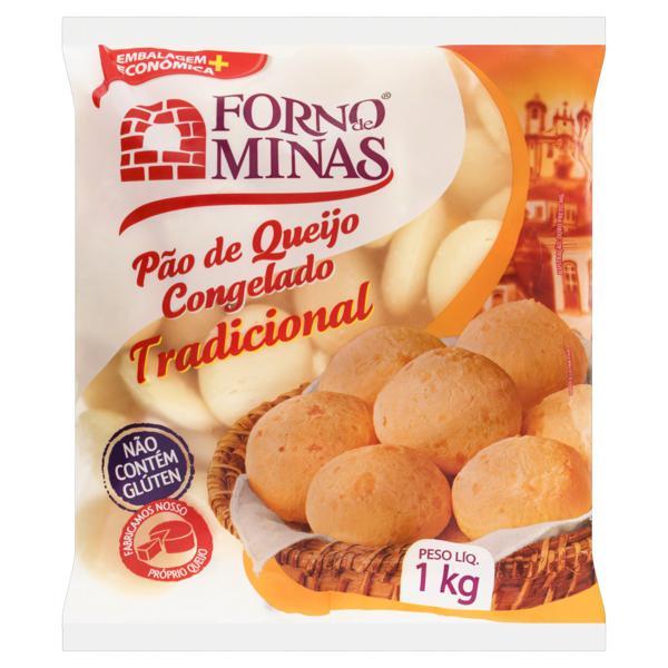 Pão de Queijo Congelado Tradicional Forno de Minas Pacote 1kg