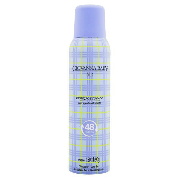 Desodorante Aerossol Antiperspirante Blue Giovanna Baby 150ml