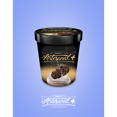 Artesanal+ 500ml sabor Ninho com Cookies