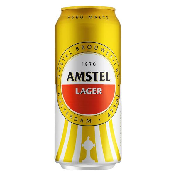 Cerveja Lager Puro Malte Amstel Lata 473ml