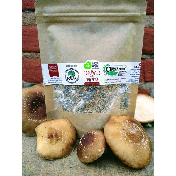 Tempero orgânico - Cogumelo & Pimenta - 30g