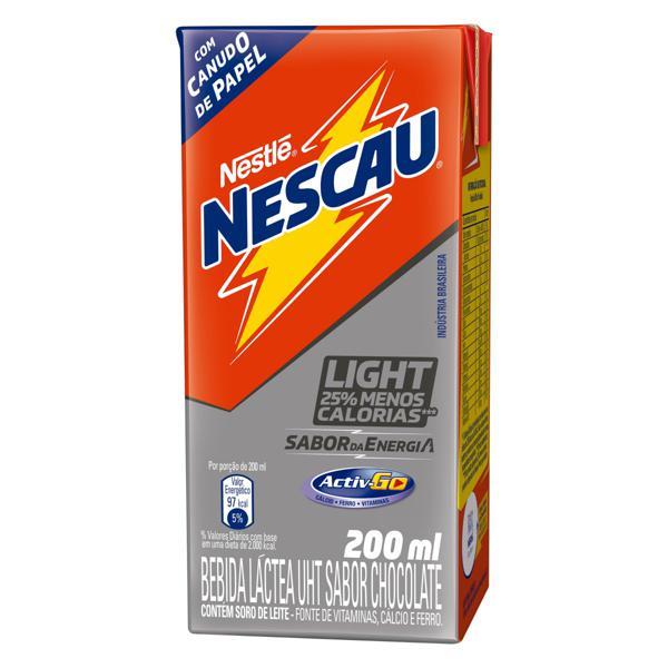 Bebida Láctea UHT Chocolate Light Nestlé Nescau Caixa 200ml