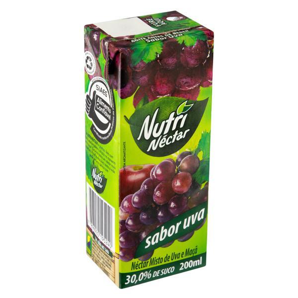 Néctar Misto Uva Nutrinéctar Caixa 200ml