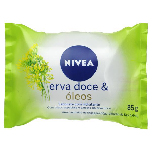 Sabonete em Barra Hidratante Erva-Doce & Óleos Nivea Pacote 85g