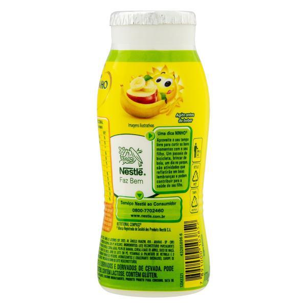 Iogurte Parcialmente Desnatado Maçã e Banana Nestlé Ninho Frasco 170g