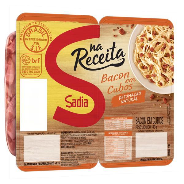 Bacon em Cubos Sadia Na Receita 140g