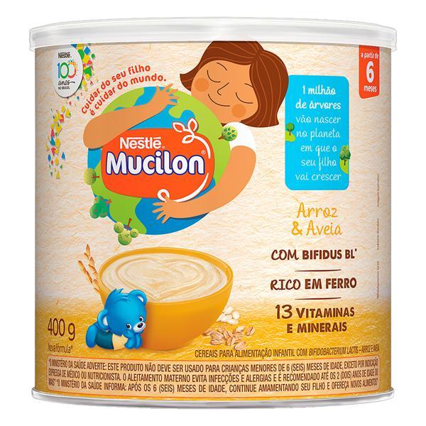 Cereal Infantil Arroz & Aveia Nestlé Mucilon Lata 400g