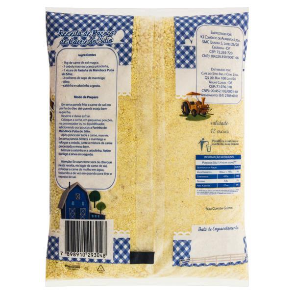 Farinha de Mandioca Tipo 1 Puba Sítio Pacote 1kg