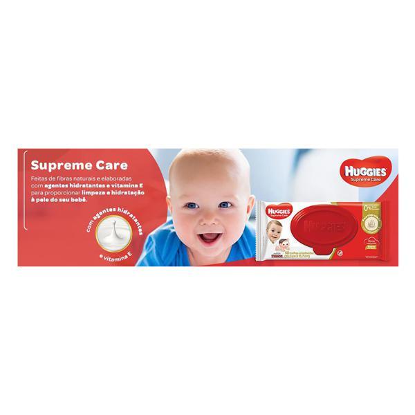 Toalha Umedecida Huggies Supreme Care 19,3cm x 15,7cm Pacote 48 Unidades