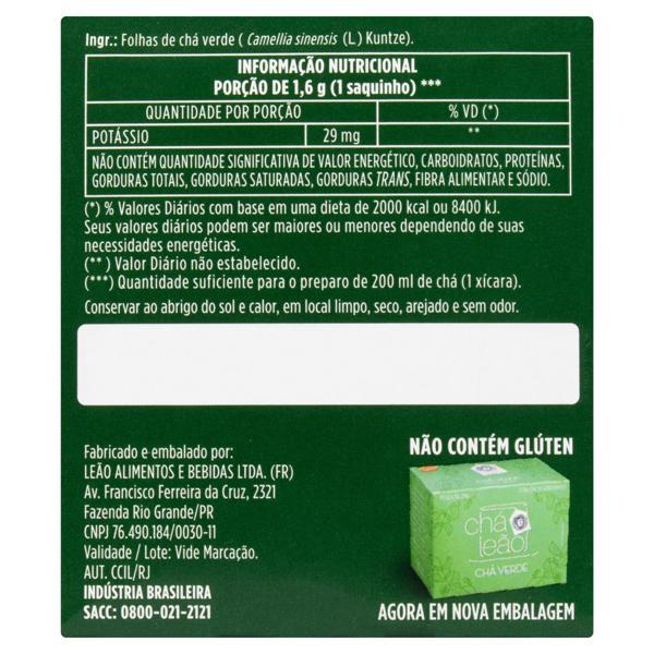 Chá Verde Natural Leão Fuze Caixa 24g 15 Unidades