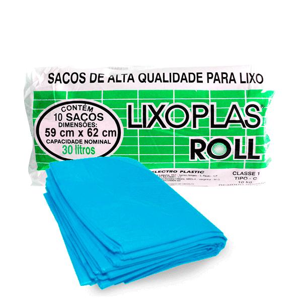 Saco Lixo LIXOPLAS Azul 30L com 10 unidades
