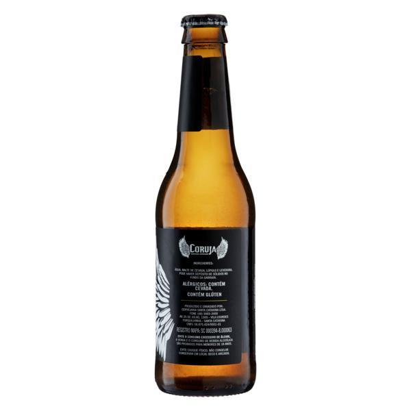 Cerveja American Lager Coruja Garrafa 355ml