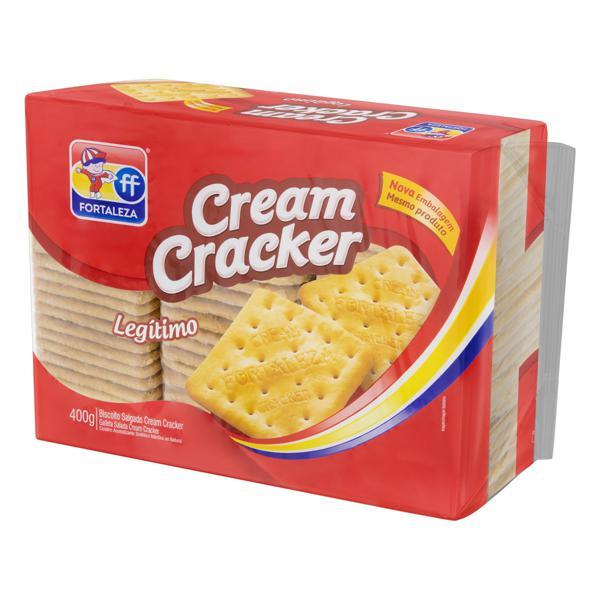 Biscoito Cream Cracker Fortaleza Pacote 400g