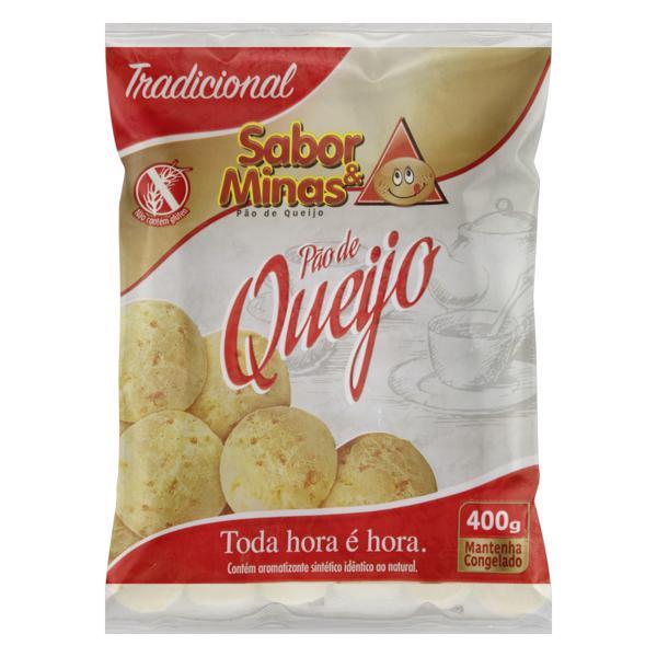 Pão de Queijo Congelado Tradicional Sabor & Minas Pacote 400g