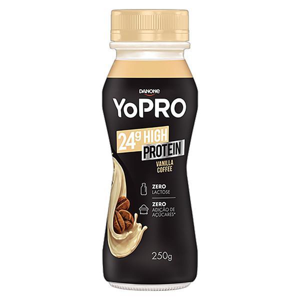 Iogurte Vanilla Coffee Zero Lactose YoPRO 24g High Protein Frasco 250g