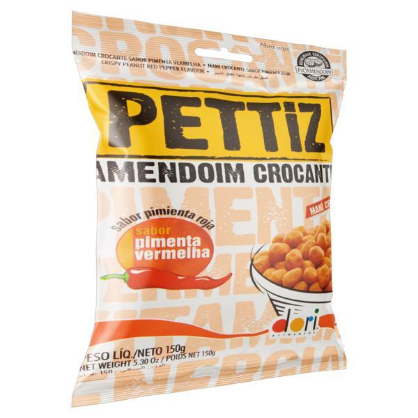 Amendoim Crocante Pimenta-Vermelha Dori Pettiz Pacote 150g