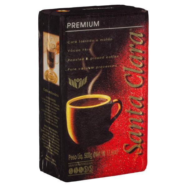 Café Torrado e Moído a Vácuo Suave Santa Clara Premium Pacote 500g