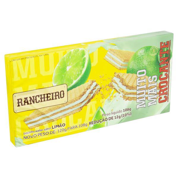 Biscoito Wafer Recheio Limão Rancheiro Pacote 108g