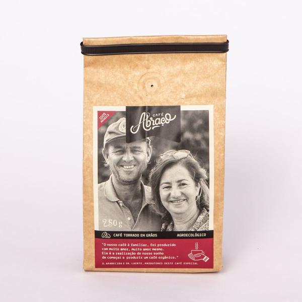 Café produtores D. Aparecida e Sr. Laerte, Torrado em Grãos 250g - Café Abraço