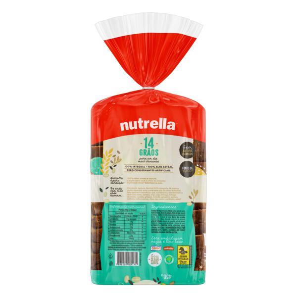Pão Integral 14 Grãos Nutrella Pacote 450g