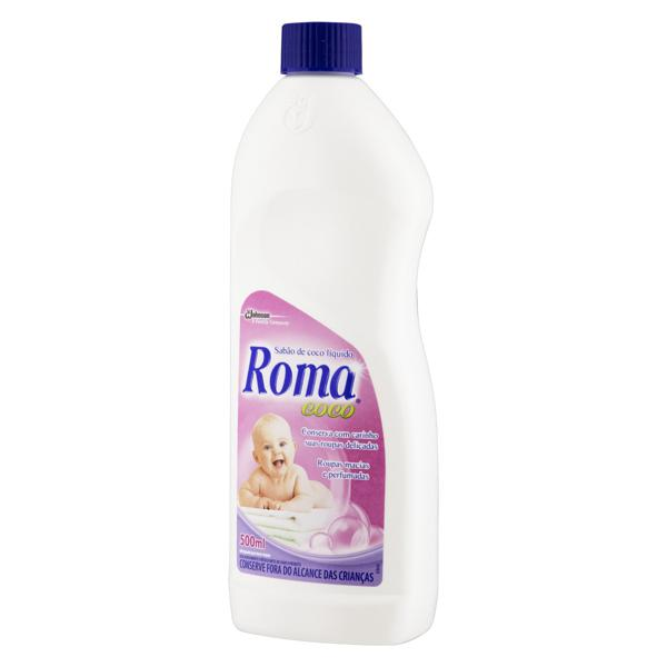 Lava-Roupas Líquido Roma Coco Frasco 500ml