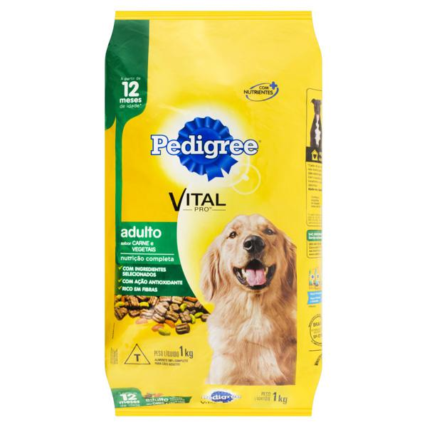 Alimento para Cães Adultos Carne e Vegetais Pedigree Vital Pro Pacote 1kg