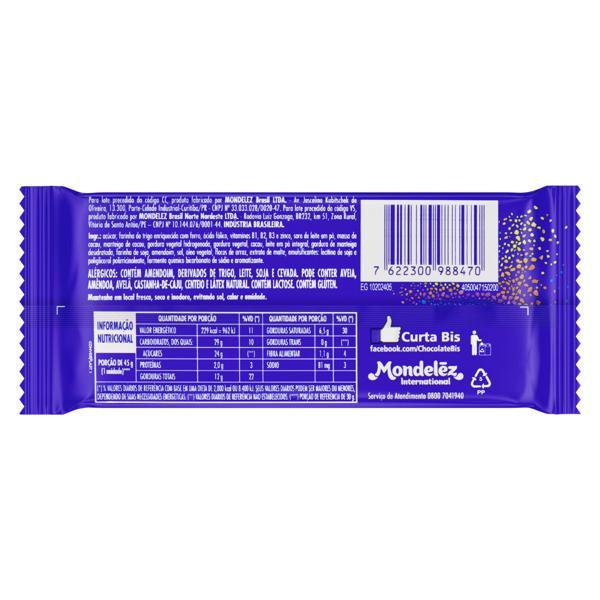 Wafer Recheio e Cobertura Chocolate Lacta Bis Xtra Pacote 45g