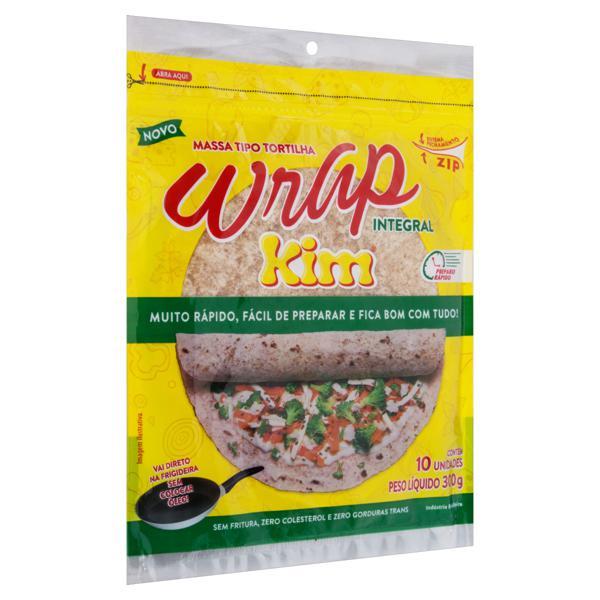 Pão Tortilha Integral Kim Wrap Pacote 300g 10 Unidades