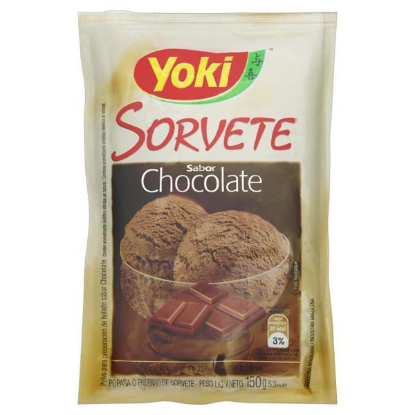 Pó para Sorvete Chocolate Yoki Pacote 150g