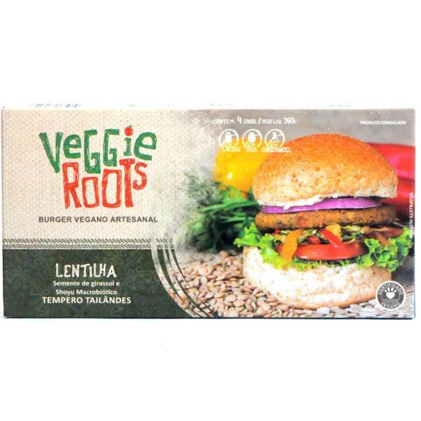 Burger Vegano Tailandês, 4 unidades de 90g, total 360g - Veggie Roots