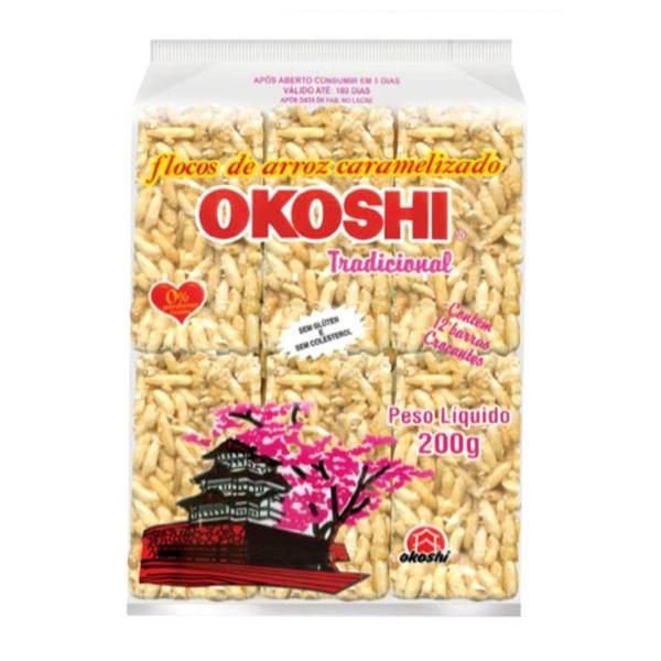 Flocos de Arroz Caramelizado Tradicional OKOSHI 200g