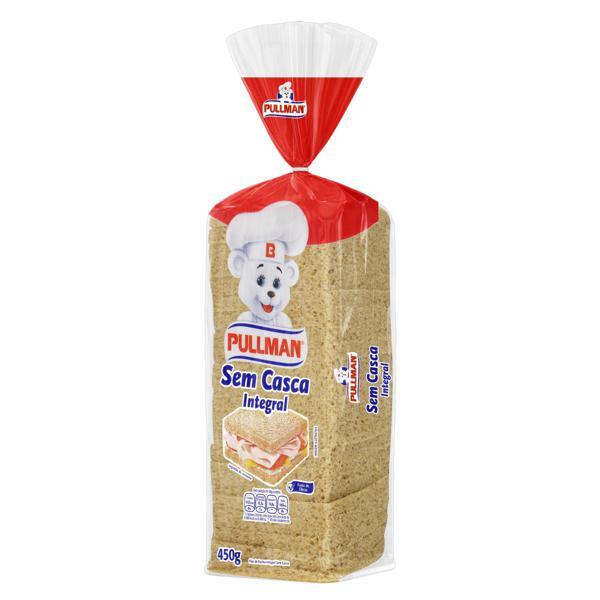Pão de Forma Integral sem Casca Pullman Pacote 450g
