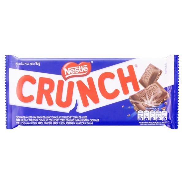 Chocolate ao Leite com Flocos de Arroz Nestlé Crunch Pacote 97g
