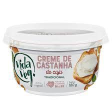 Creme Vegano de Castanha de Cajú Tradicional 180g - Vida Veg