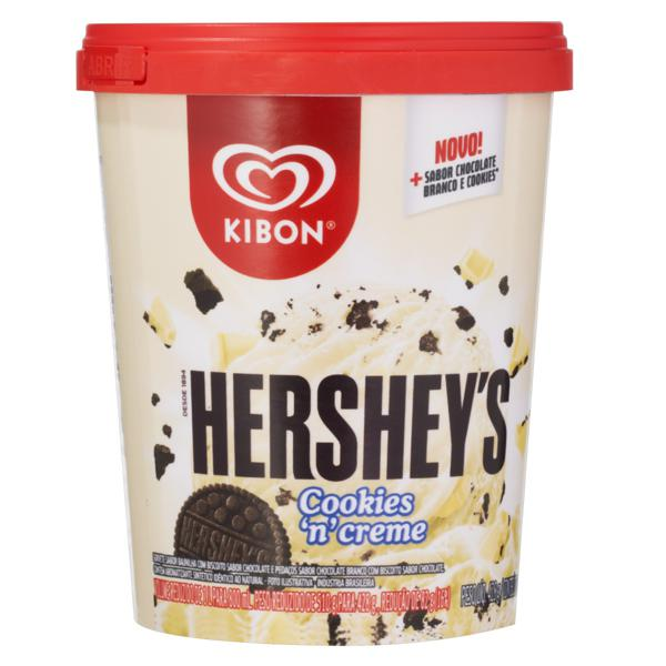 Sorvete Baunilha Cookies 'N' Creme Hershey's Kibon Pote 800ml