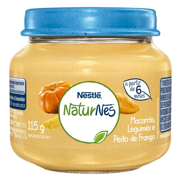 Sopinha Macarrão, Legumes e Peito de Frango Nestlé Naturnes Vidro 115g