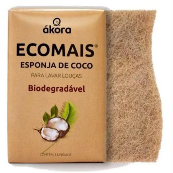 Esponja Natural de Fibra de Coco - -Ákora