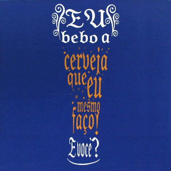 Camiseta Azul Copo - Baby Look Tam. M