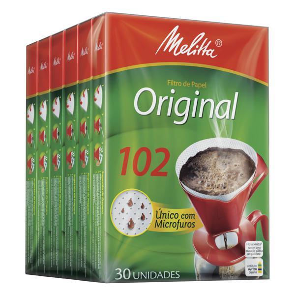 Pack Filtro de Papel Original Melitta 102 Caixa 6 Unidades