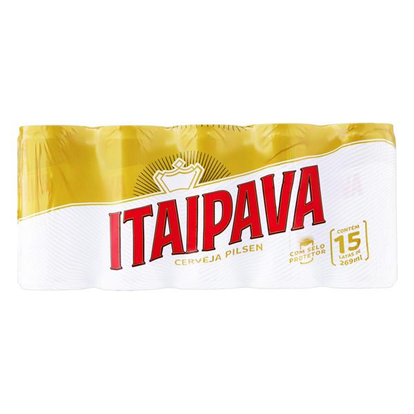 Pack Cerveja Pilsen Itaipava Lata 15 Unidades 269ml Cada