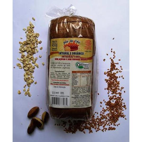 Pão de Forma 100% integral Orgânico - sem açúcar