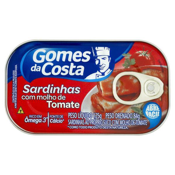 Sardinha com Molho de Tomate Gomes da Costa Lata 84g