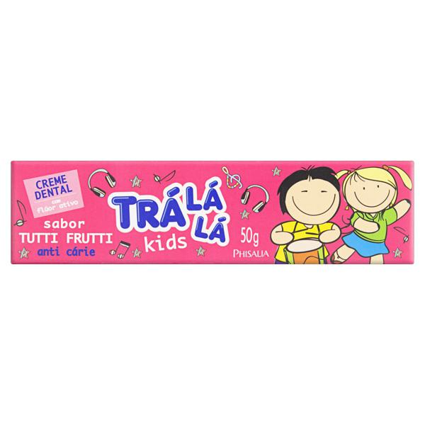 Creme Dental com Flúor Tutti Frutti Trá Lá Lá Kids Caixa 50g