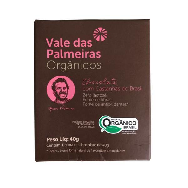 Chocolate 70% com Castanhas do Brasil Orgânico 40g