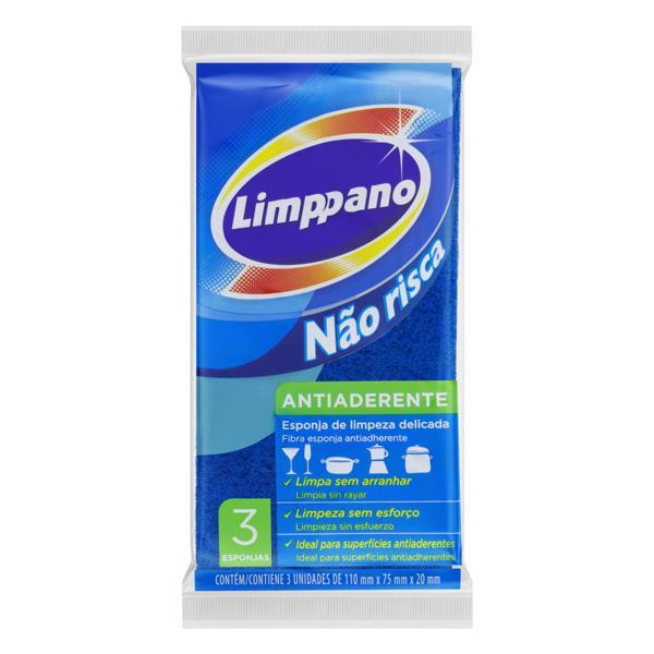 Esponja Antiaderente Não Risca Limppano 3 Unidades