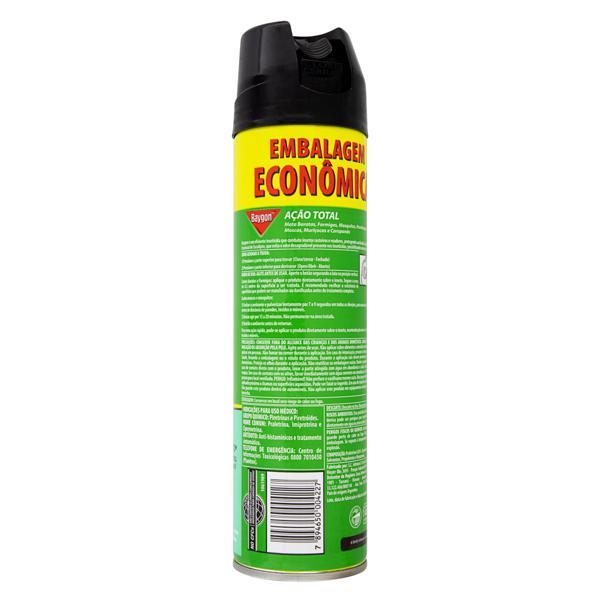 Inseticida Aerossol Ação Total Óleo de Eucalipto Baygon Frasco 360ml Embalagem Econômica